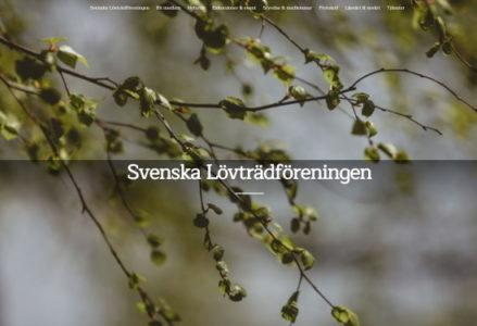 Hemsida Svenska Lövträdföreningen
